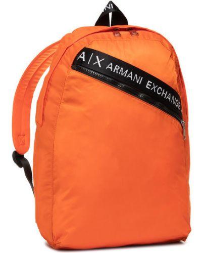 Pomarańczowy plecak Armani Exchange
