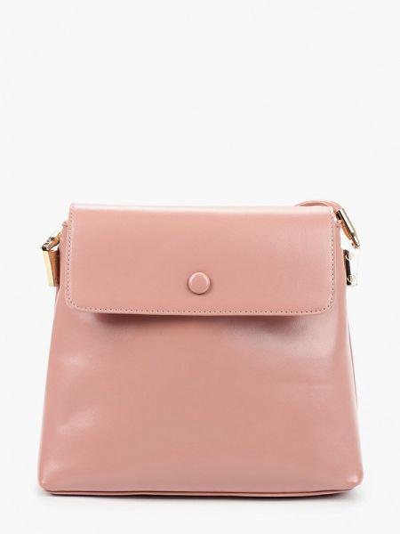 Розовая кожаная сумка с перьями из искусственной кожи Elsi