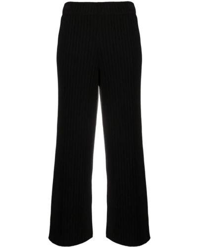 Czarne spodnie prążkowane Vince