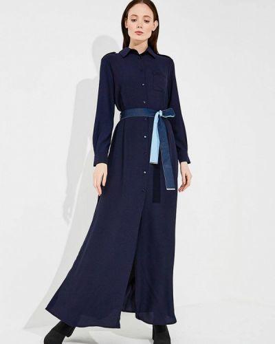 Синее платье прямое Pinko