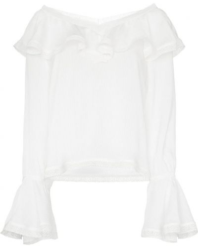 Блузка с длинным рукавом с оборками By Timo