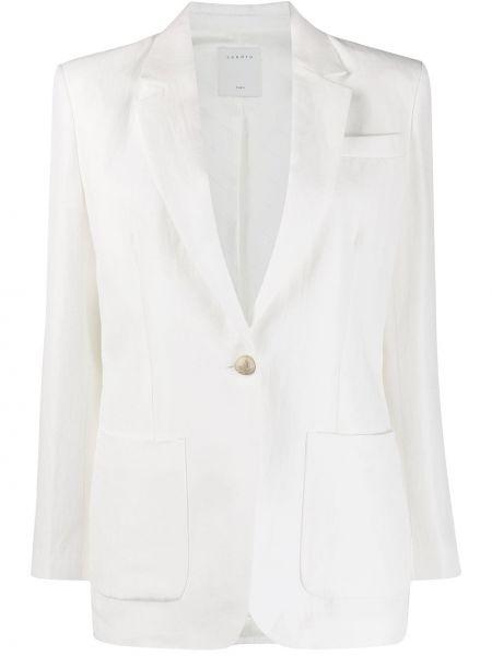 С рукавами белая куртка свободного кроя Sandro Paris