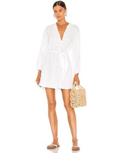 Платье с запахом - белое La Made