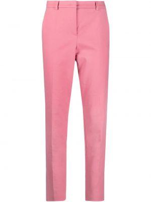 Хлопковые розовые прямые брюки Luisa Cerano