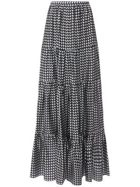 Шелковая юбка - синяя Kiton