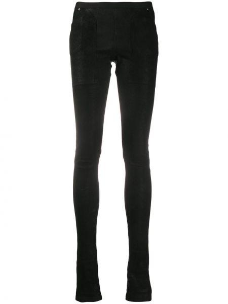 Шерстяные черные леггинсы с карманами Rick Owens