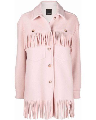 Розовое пальто на пуговицах Pinko