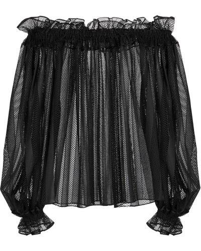 Bluzka koronkowa - czarna Alaã¯a