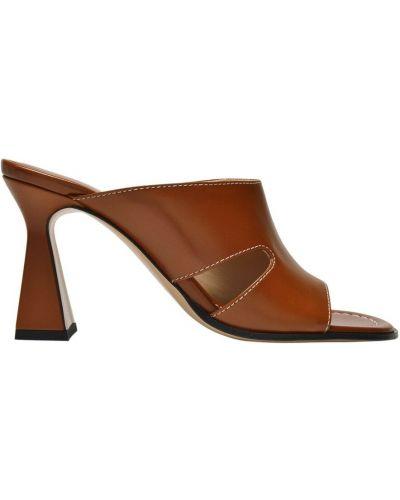 Brązowe sandały skórzane Wandler
