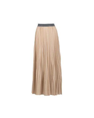 Плиссированная юбка хлопковая бежевый Nude