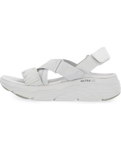 Серые текстильные сандалии Skechers