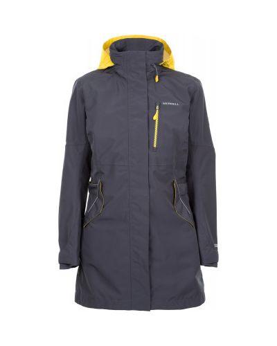 Утепленная куртка с капюшоном длинная водонепроницаемая Merrell