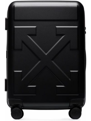 Czarny walizka z kieszeniami Off-white