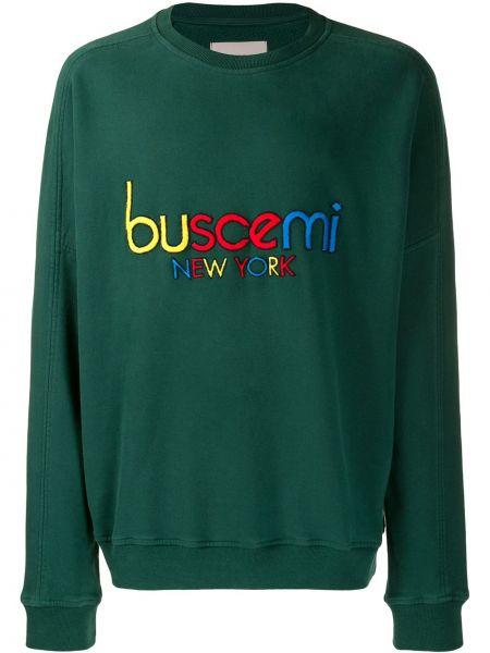Zielona bluza z haftem z długimi rękawami Buscemi