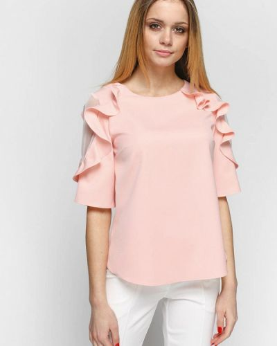 Блузка розовая весенний Zubrytskaya