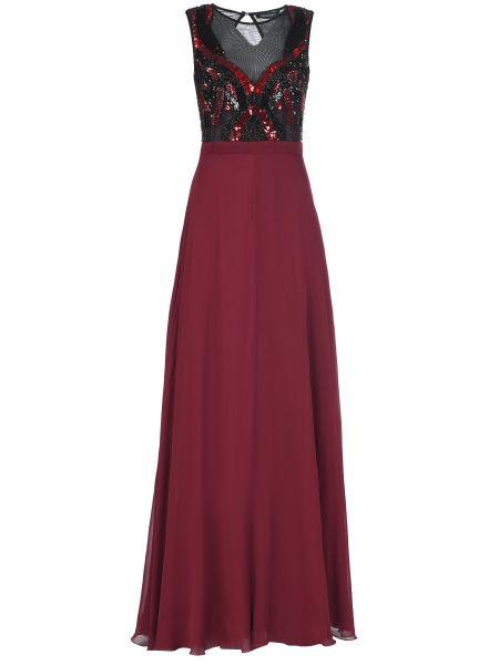 Платье из вискозы - бордовое Mangano