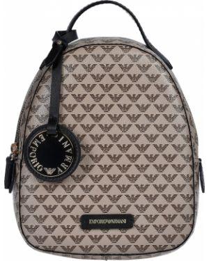 Рюкзак с карманами - бежевый Armani Jeans
