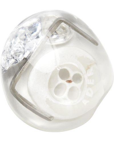 Białe kolczyki srebrne Ader Error