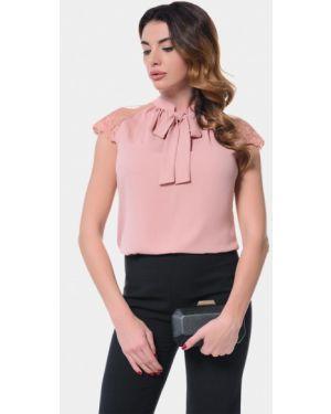 Блузка с коротким рукавом розовая весенний Genevie