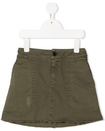 Хлопковая зеленая юбка на молнии Zadig & Voltaire Kids