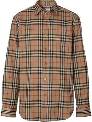 Классическая рубашка на кнопках с манжетами с воротником винтажная Burberry