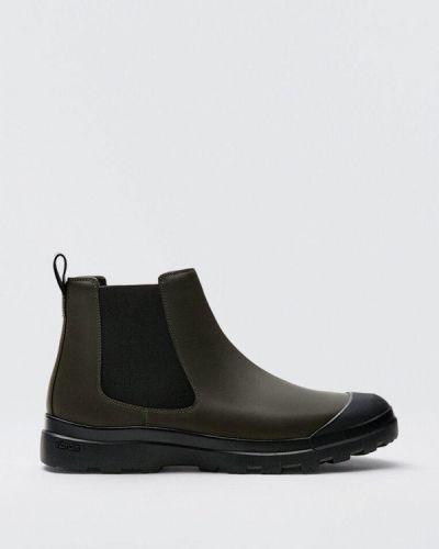 Демисезонные ботинки хаки Massimo Dutti
