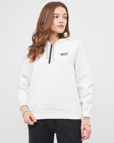 Белая спортивная кофта Lacoste