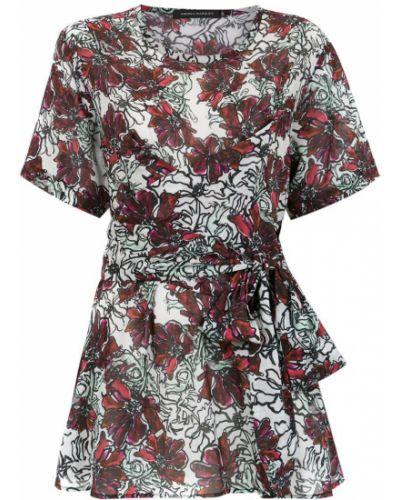 Блузка с коротким рукавом с поясом батник Andrea Marques