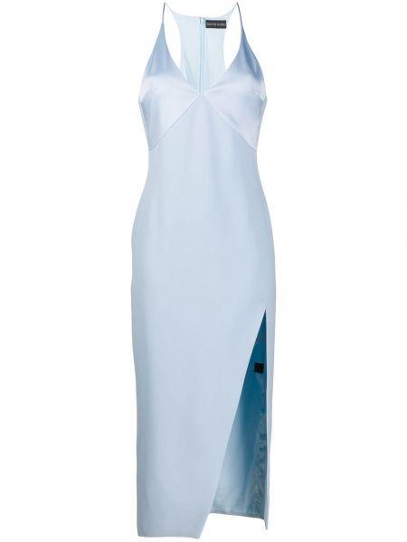 Платье на бретелях с V-образным вырезом на молнии из вискозы David Koma