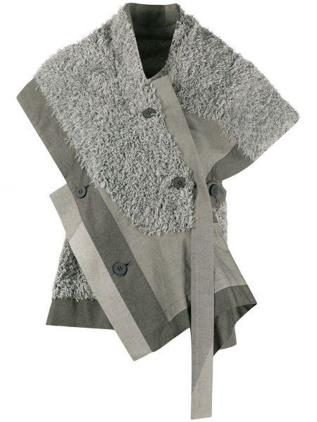 Bluzka krótki rękaw asymetryczna bawełniana 132 5. Issey Miyake
