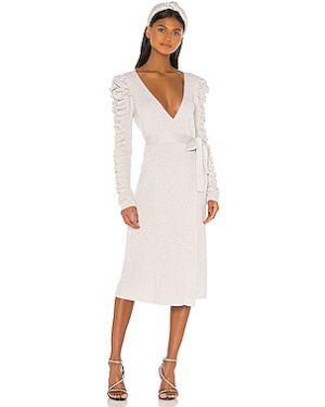 Платье миди на пуговицах с люрексом Lpa