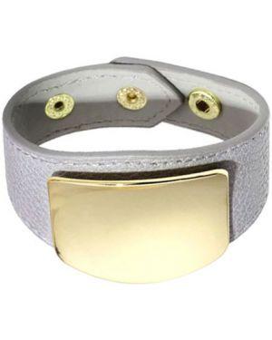 Кожаный браслет - желтый Evora