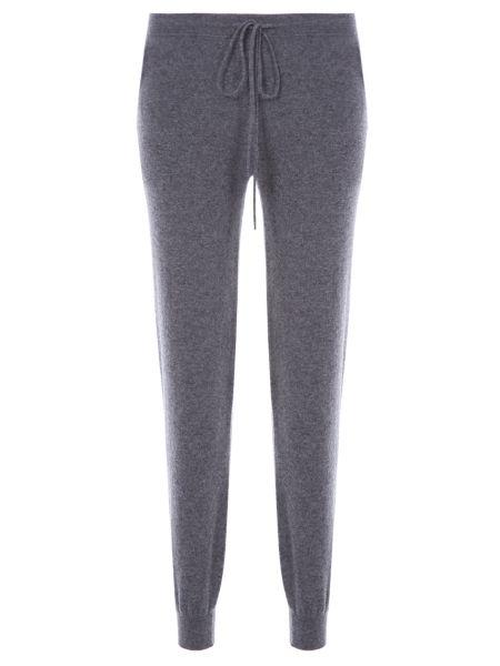 Кашемировые серые спортивные брюки с карманами с манжетами Gentryportofino