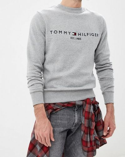 Серый свитшот Tommy Hilfiger