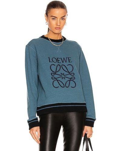 Niebieska bluza skórzana Loewe