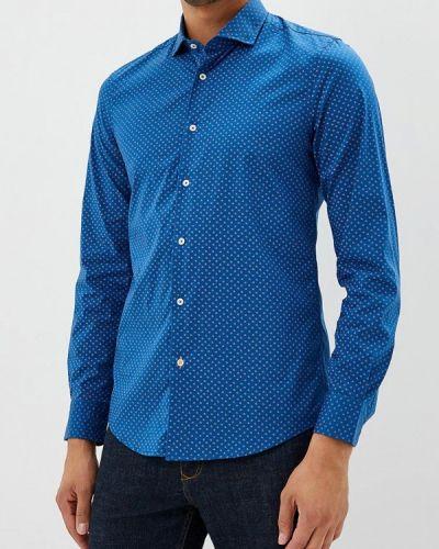 Синяя рубашка с длинным рукавом United Colors Of Benetton