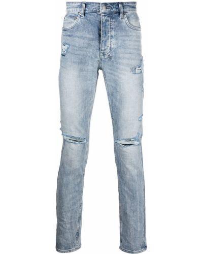 Niebieskie mom jeans bawełniane Ksubi