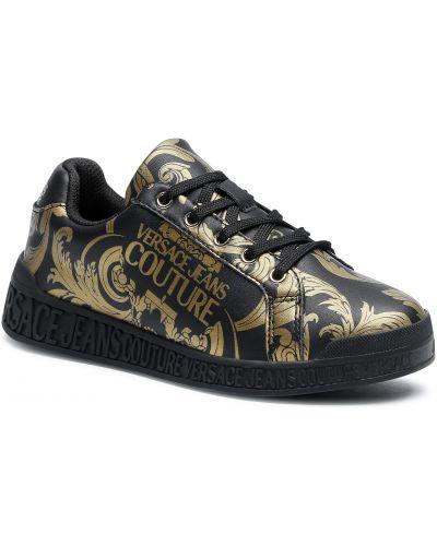 Złote czarne sneakersy Versace Jeans Couture