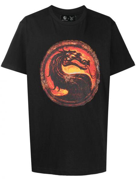 Czarny t-shirt bawełniany z printem Mjb Marc Jacques Burton