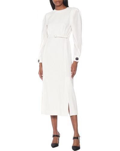 Biały wełniany sukienka midi Givenchy