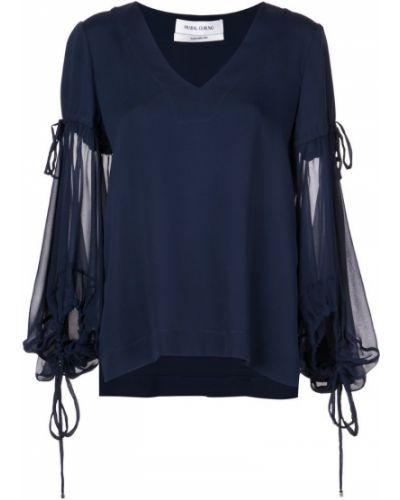 Блузка - синяя Prabal Gurung