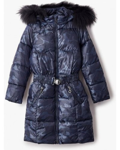 Свободная теплая синяя куртка Finn Flare