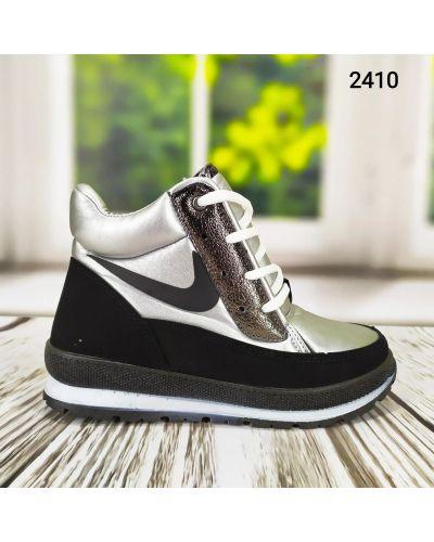 Серебряные дутики на шнуровке Bromen
