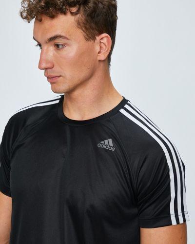Футболка однотонная с узором Adidas Performance