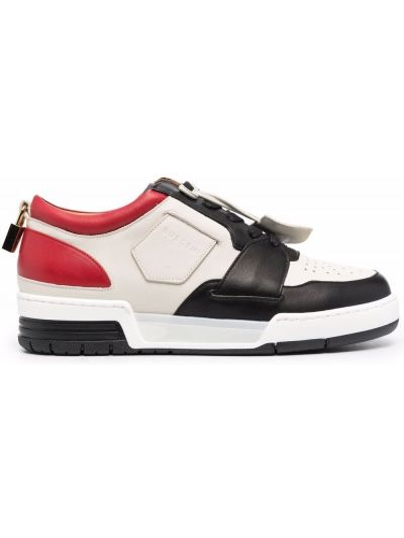 Białe sneakersy skorzane Buscemi