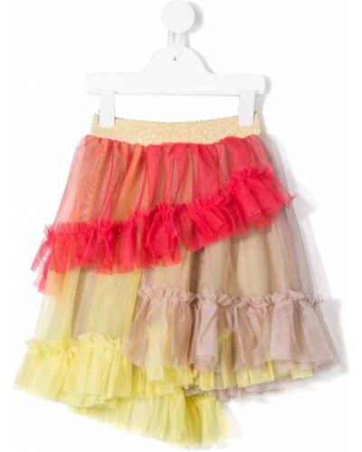Фиолетовая юбка из фатина с поясом Raspberry Plum