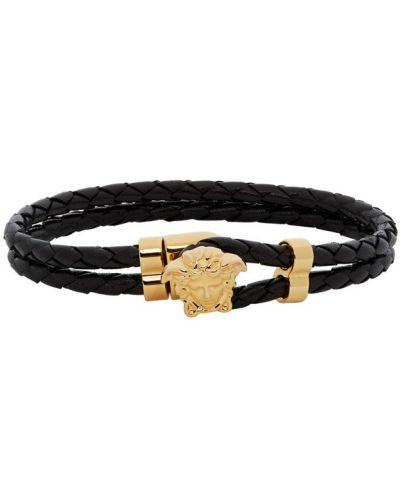 Czarna złota bransoletka ze złota Versace