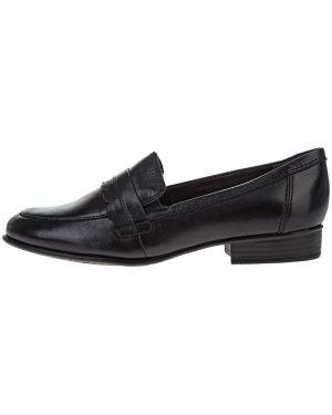Лоферы черные кожаные Tamaris