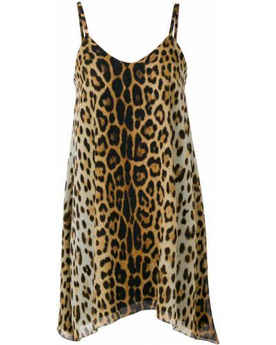 Платье с принтом леопардовое Moschino
