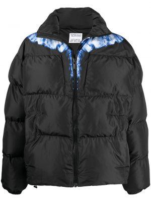 Czarna długa kurtka z długimi rękawami z printem Marcelo Burlon County Of Milan